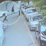 Salvó a un niño que cayó de un quinto piso y todo quedó grabado en video
