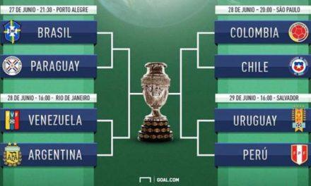 Los cruces para  los cuartos de la Copa América