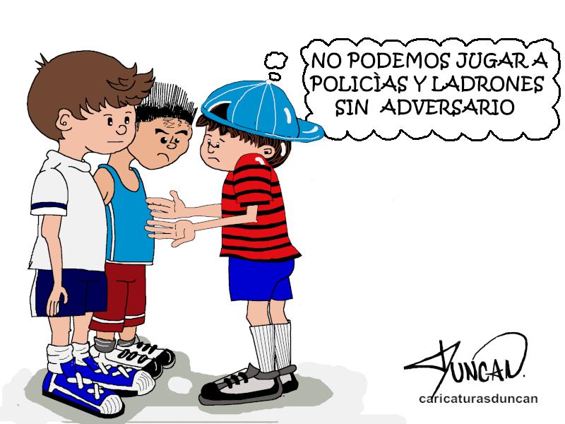 «Policías y ladrones» Caricaturas de Duncan