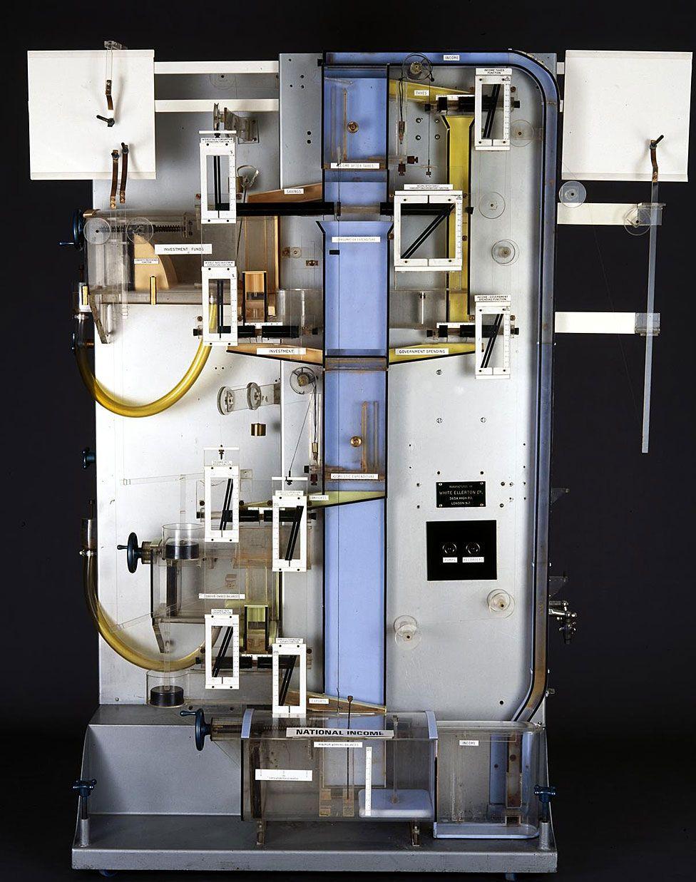 MONIAC, la genial máquina que muestra los vaivenes de la economía ... con agua