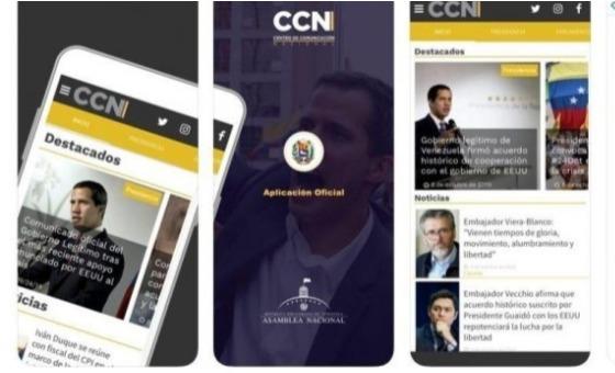 Administración de Guaidó crea aplicación para combatir la censura y fake news