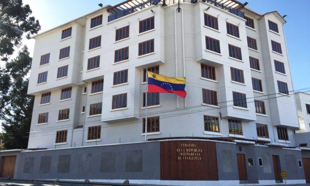 Embajada de Venezuela en Bolivia es presuntamente atacada