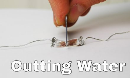 Corta una gota de agua en dos con cuchillo hidrofóbico (Video)