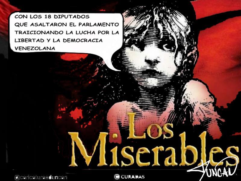«Los Miserables» Caricaturas de Duncan