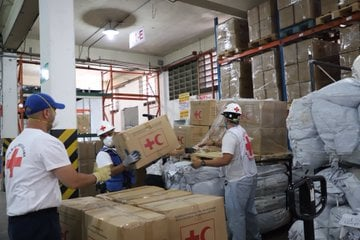 Cruz Roja donó 45 toneladas de insumos a Venezuela
