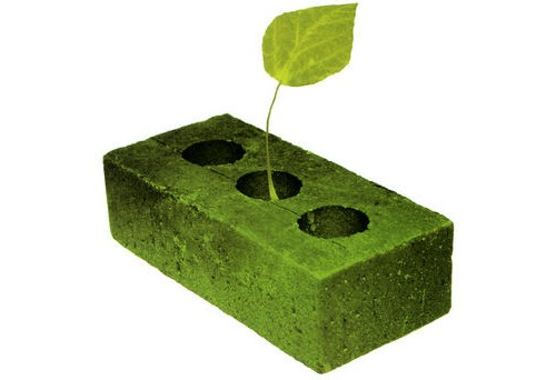 Los verdes y revolucionarios ladrillos y materiales de construcción