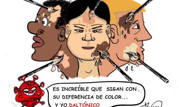 Y yo daltónico – Caricatura de Duncan
