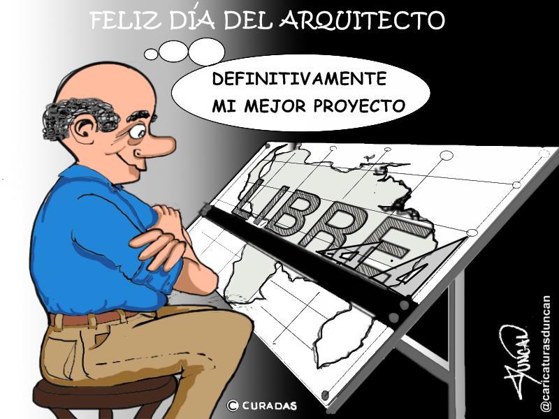 Día del arquitecto - Caricatura de Duncan