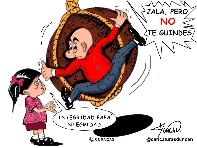 Integridad, papá. Caricatura de Duncan.