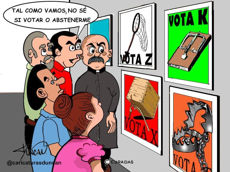 Votar o abstenerse - Caricatura de Duncan