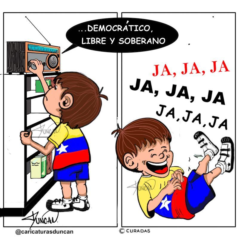 Democrático, libre y soberano - Caricatura de Duncan