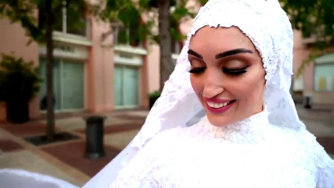 La novia que fue sorprendida por la explosión de Beirut narró su momento