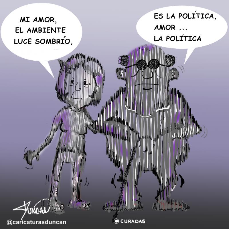 Sombrío - Caricatura de Duncan