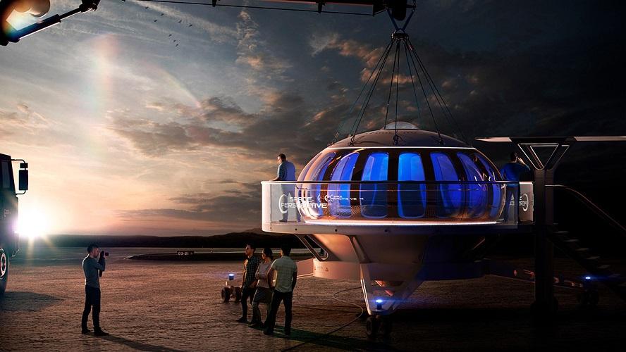 Spaceship Neptune: Planean turismo en globo y al borde del espacio