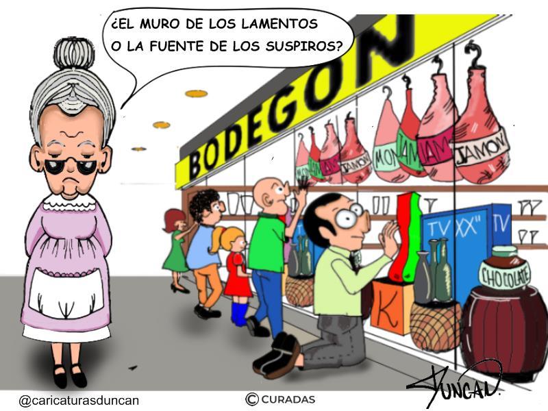 Bodegones - Caricatura de Duncan