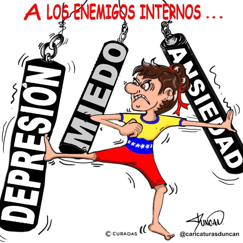 Los enemigos internos - Caricatura de Duncan