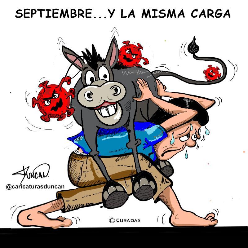 Llegó septiembre - Caricatura de Duncan