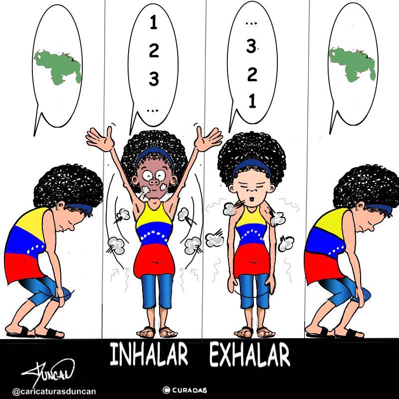 Inhalar / exhalar - Caricatura de Duncan