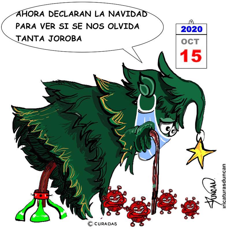Navidad en octubre - Caricatura de Duncan