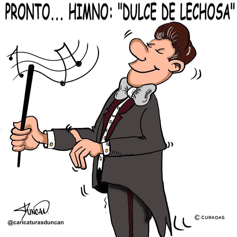 Proyectando acontecimientos - Caricatura de Duncan