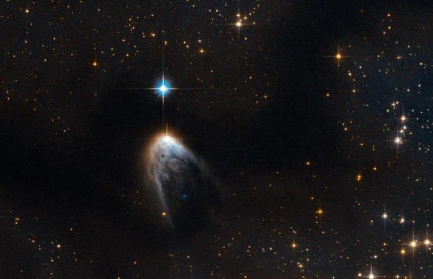 """El telescopio Hubble logra captar la imagen de una """"cascada galáctica"""""""
