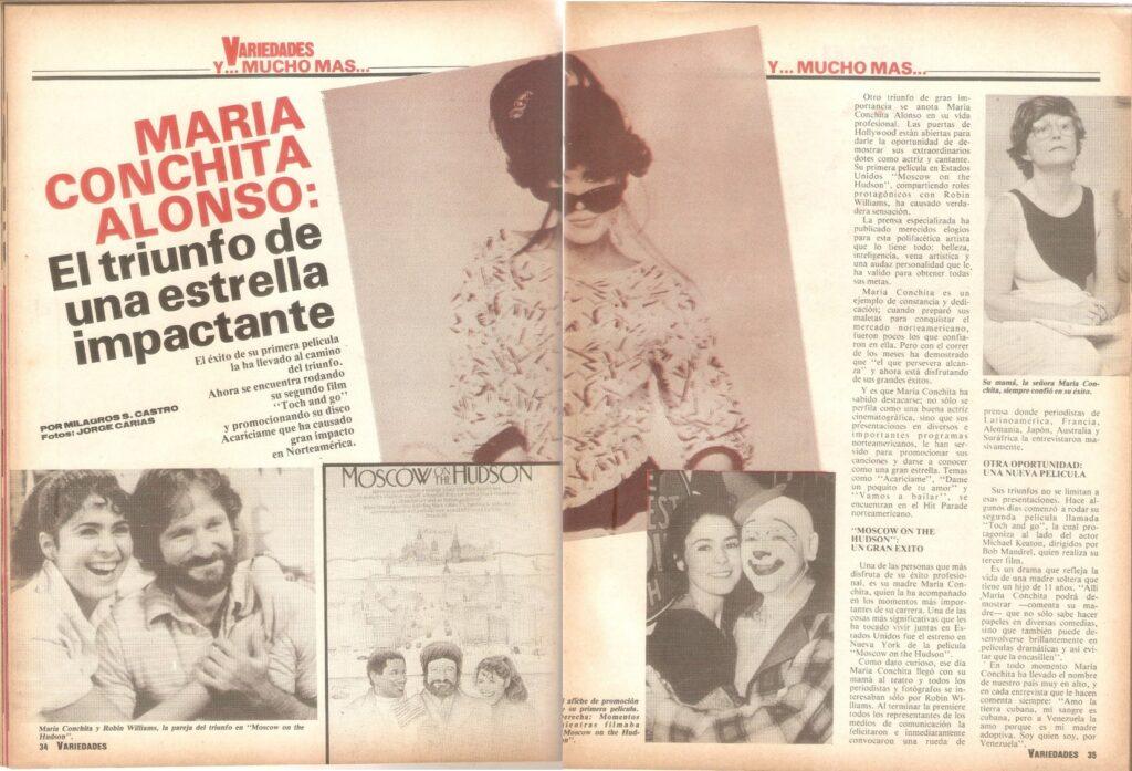Publicación de la revista Variedades.