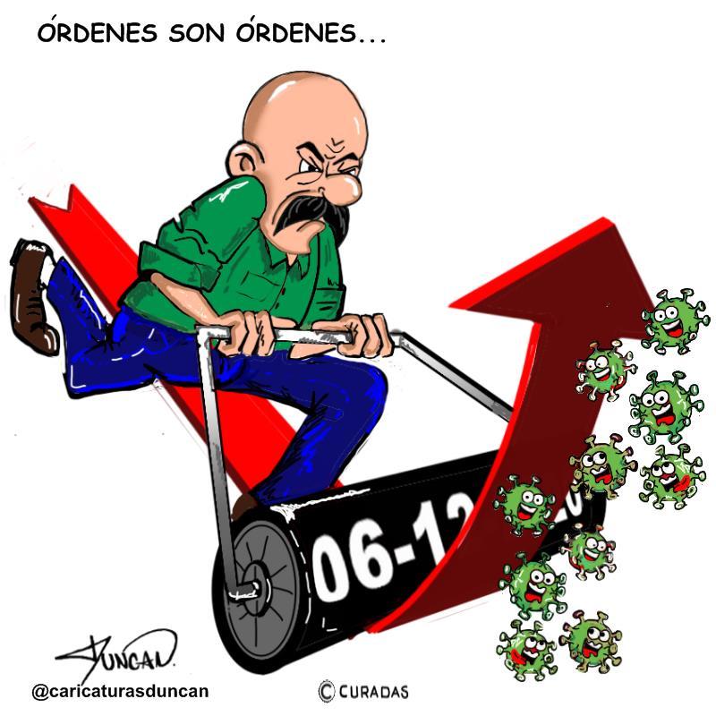 Órdenes son órdenes - Caricatura de Duncan