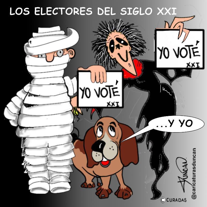 Votantes - Caricatura de Duncan