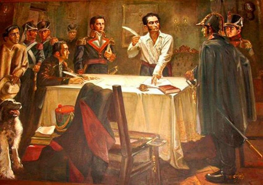 El 15 de diciembre de 1812 se firma el Manifiesto de Cartagena