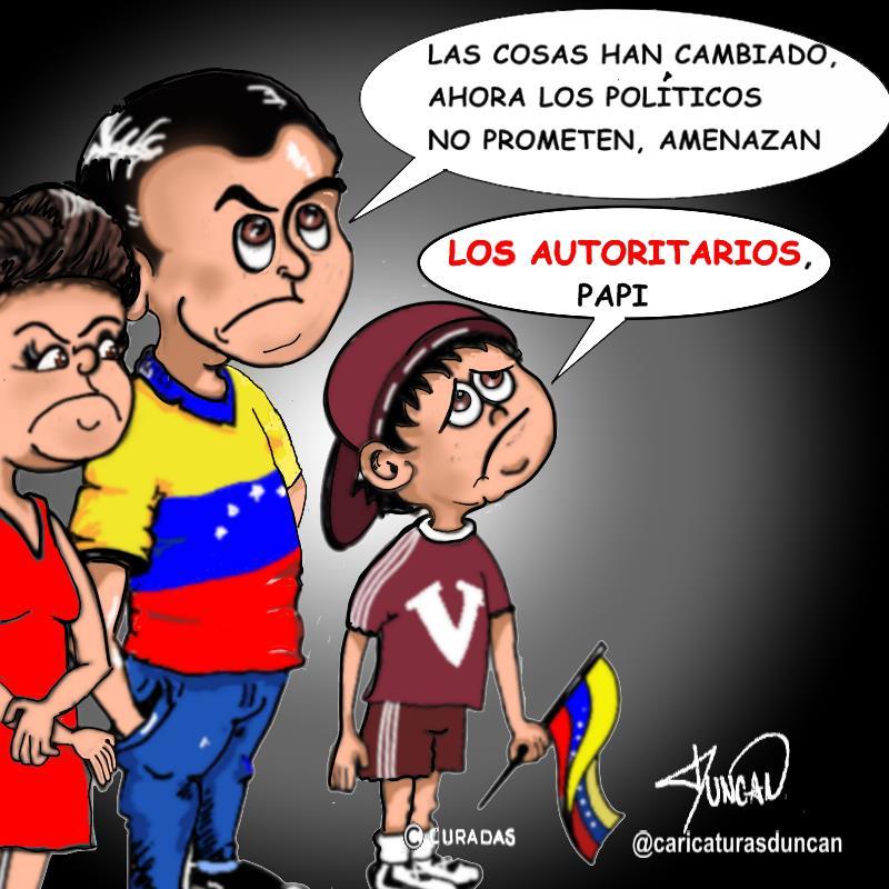 Los autoritarios - Caricatura de Duncan