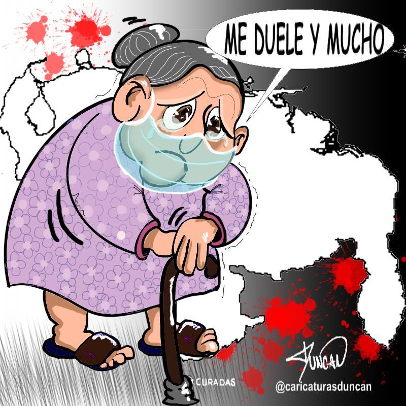 Me duele, y mucho - Caricatura de Duncan
