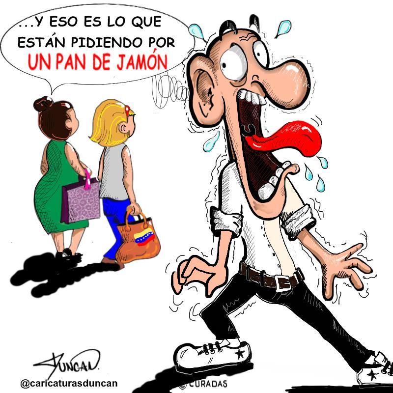 Pan de jamón - Caricatura de Duncan