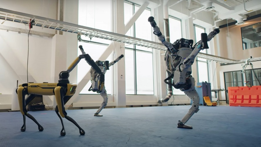"Al ritmo de ""Do you love me"" bailan los robots de Boston Dynamics"