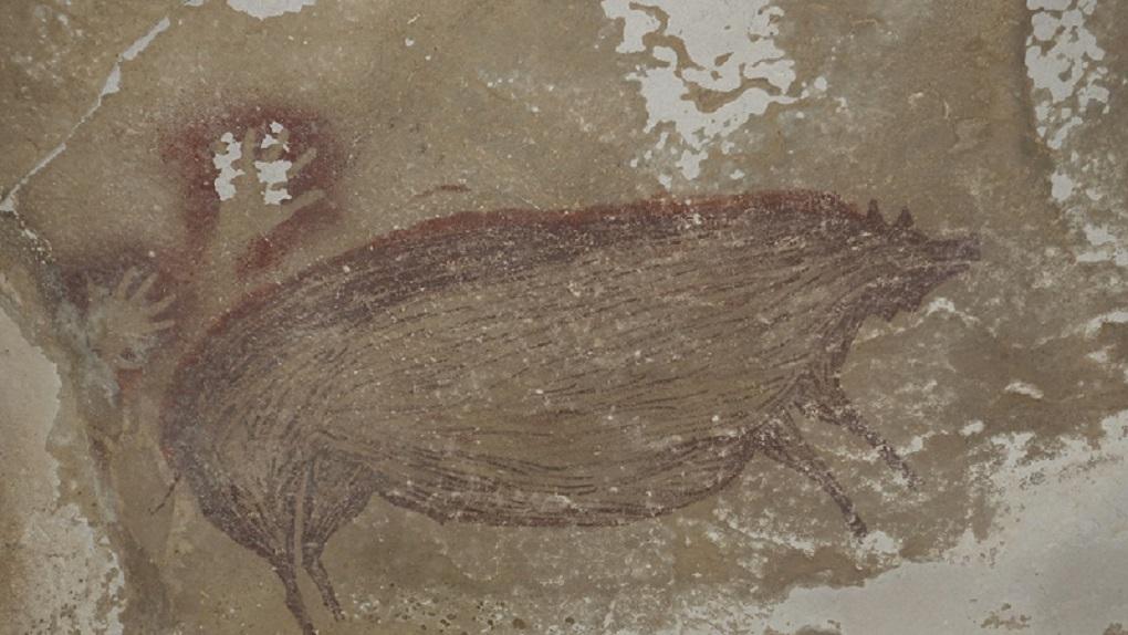 Indonesia: hallan en una cueva la pintura rupestre más antigua del mundo