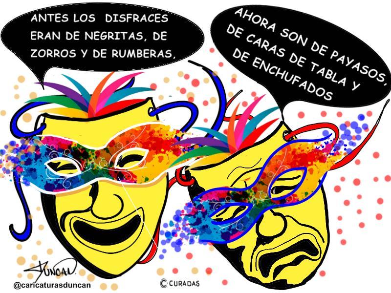 Carnavales en revolución - Caricatura de Duncan