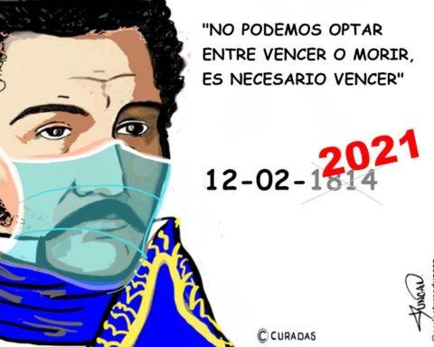 Es necesario vencer, 2021 - Caricatura de Duncan