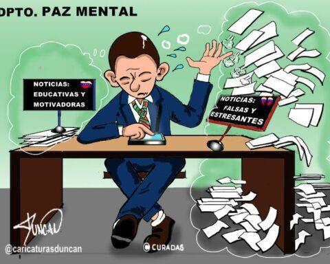 Paz mental - Caricatura de Duncan