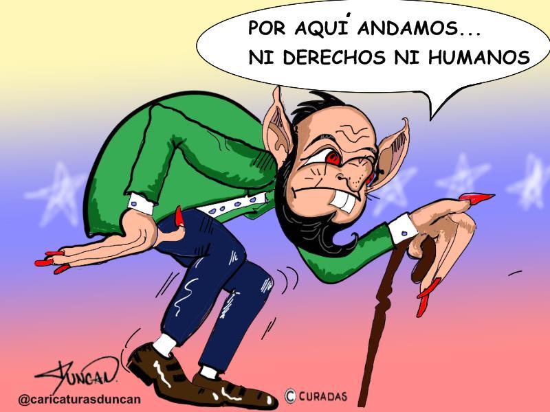 Derechos humanos - Caricatura de Duncan