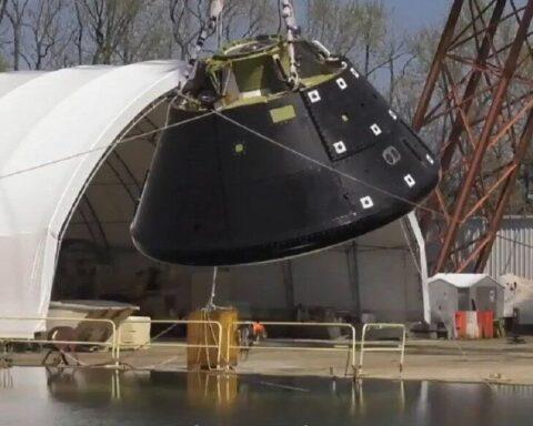 La NASA realiza prueba de aterrizaje en agua de la cápsula Orion