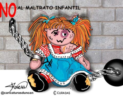¡No al maltrato infantil! - Caricatura de Duncan
