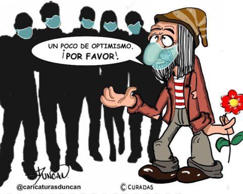 Un poco de optimismo - Caricatura de Duncan