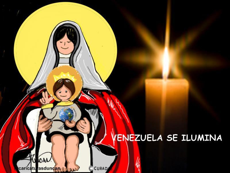Venezuela se ilumina - Caricatura de Duncan