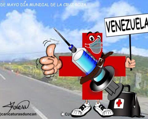 Día mundial de la cruz roja - Caricatura de Duncan