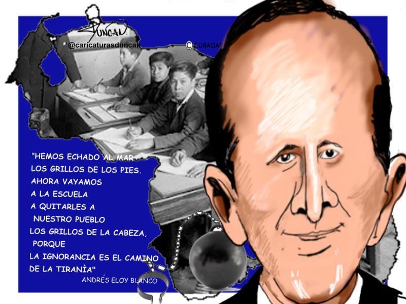 El poeta hoy - Caricatura de Duncan