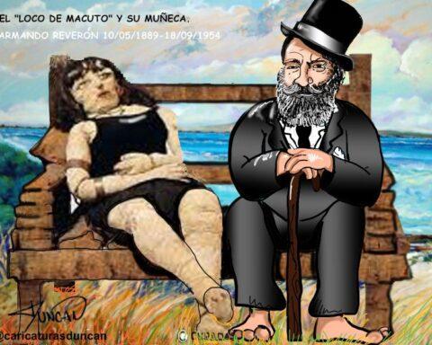 Homenaje al Loco de Macuto - Caricatura de Duncan