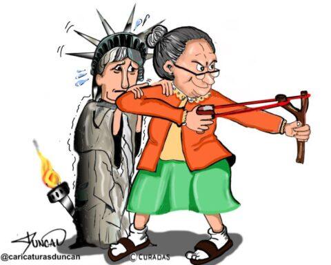 La libertad tiene dolientes - Caricatura de Duncan