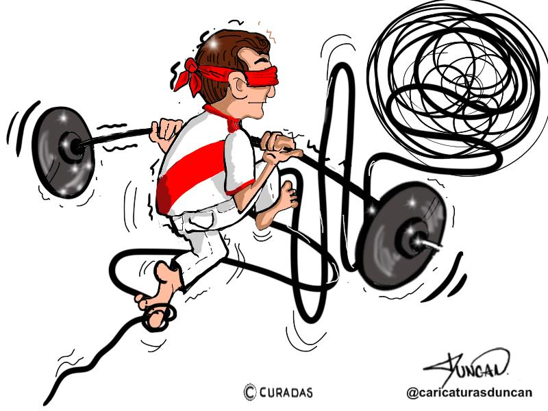 No hay peor ciego - Caricatura de Duncan