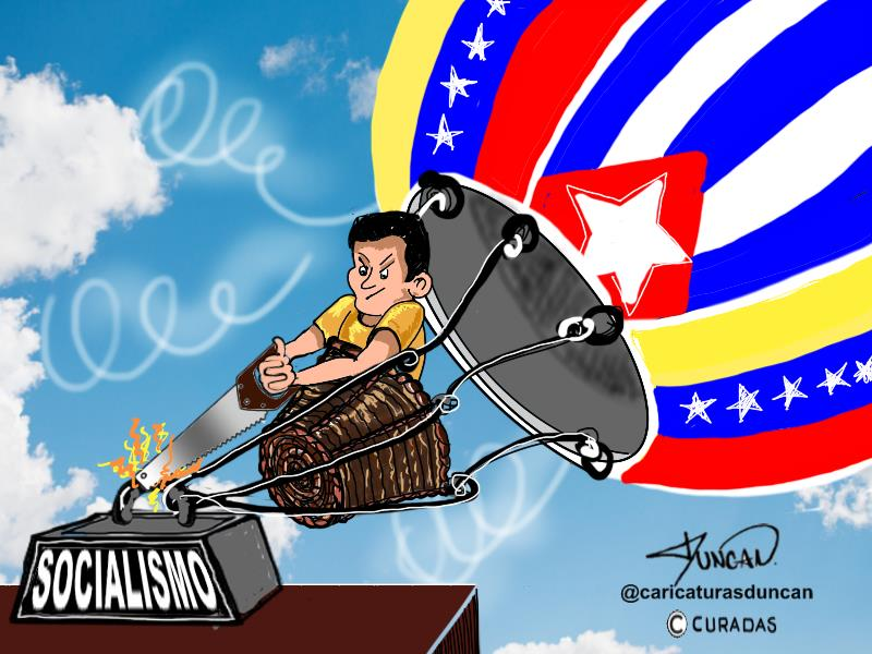 Dejar volar - Caricatura de Duncan