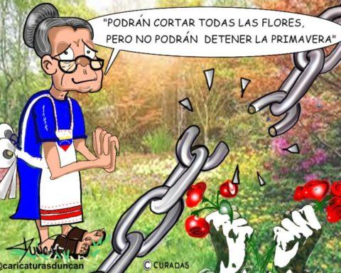 Primavera y libertad - Caricatura de Duncan