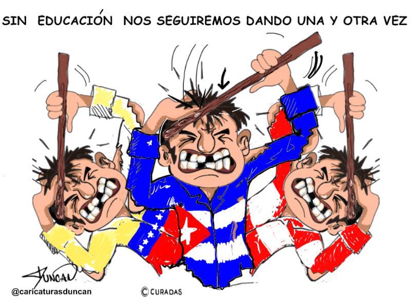 Una y otra vez - Caricatura de Duncan
